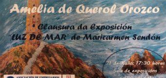 CLAUSURA DA EXPOSCIÓN DE PINTURA E CERÁMICA DE MARIA DEL CARMEN SENDÓN