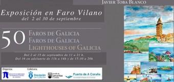 Exposición de pintura «50 Faros de Galicia»
